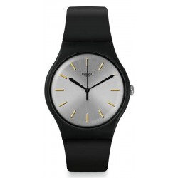Swatch Unisex Watch New Gent Backtoblack SUOB173