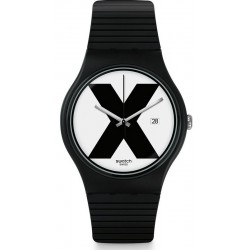 Swatch Unisex Watch New Gent XX-Rated Black SUOB402
