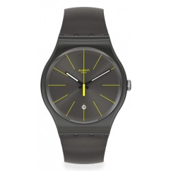 Swatch Men's Watch New Gent Charcolazing SUOB404