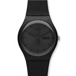 Swatch Unisex Watch New Gent Black Rebel SUOB702