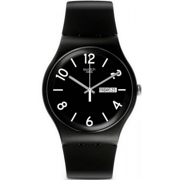 Buy Swatch Unisex Watch New Gent Backup Black SUOB715