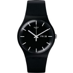 Swatch Unisex Watch New Gent Mono Black SUOB720