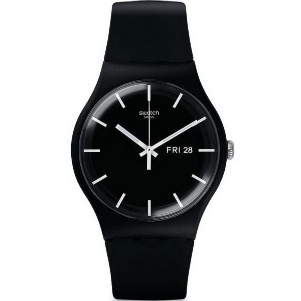 Buy Swatch Unisex Watch New Gent Mono Black SUOB720