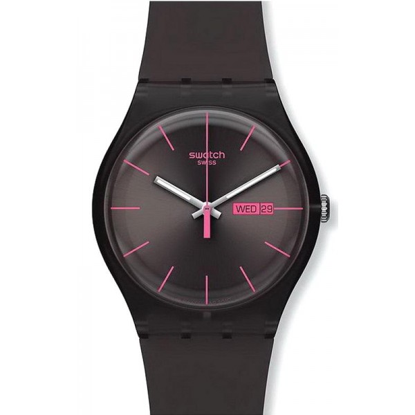Buy Swatch Unisex Watch New Gent Brown Rebel SUOC700