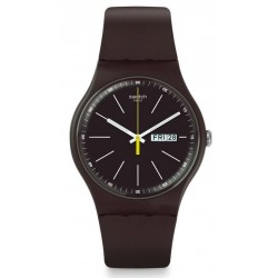 Swatch Unisex Watch New Gent Blue Browny SUOC704
