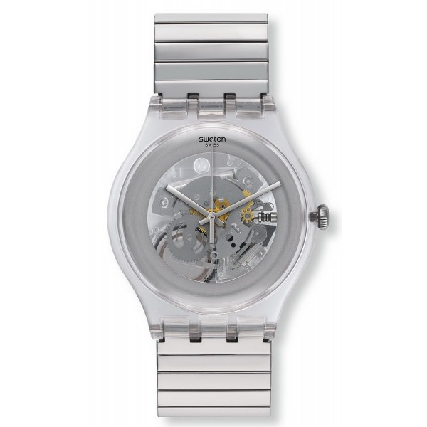 Buy Swatch Unisex Watch New Gent Cleared Up L SUOK105FA