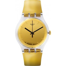 Swatch Unisex Watch New Gent Goldenall SUOK120