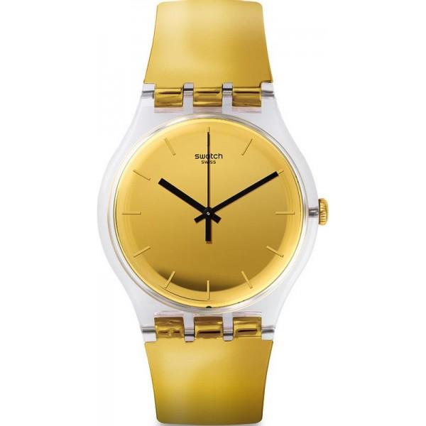 Buy Swatch Unisex Watch New Gent Goldenall SUOK120