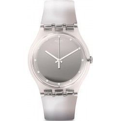 Swatch Women's Watch New Gent Shiny Moon SUOK121