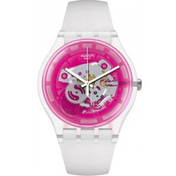 Swatch Unisex Watch New Gent Pinkmazing SUOK130