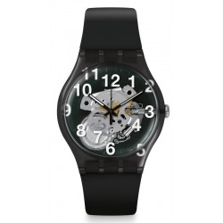 Swatch Unisex Watch New Gent Black Board SUOK135