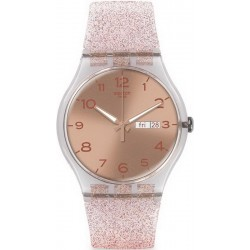 Buy Swatch Women's Watch New Gent Pink Glistar SUOK703