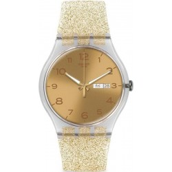 Buy Swatch Women's Watch New Gent Golden Sparkle SUOK704
