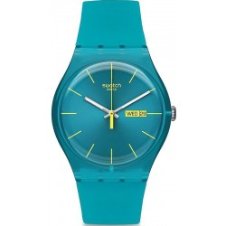 Swatch Unisex Watch New Gent Turquoise Rebel SUOL700