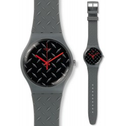 Swatch Unisex Watch New Gent Text-ure SUOM102
