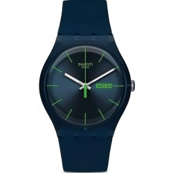 Swatch Unisex Watch New Gent Blue Rebel SUON700