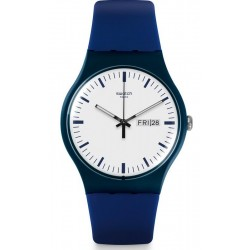 Swatch Unisex Watch New Gent Bellablu SUON709