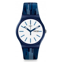 Swatch Unisex Watch New Gent Fiammablu SUON712