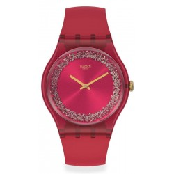 Swatch Women's Watch New Gent Ruby Rings SUOP111
