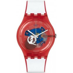Swatch Unisex Watch New Gent Clownfish Red SUOR102