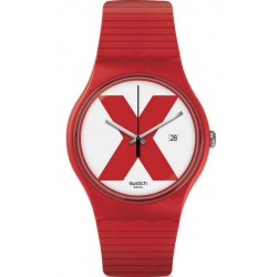 Swatch Unisex Watch New Gent XX-Rated Red SUOR400