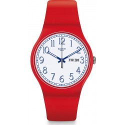 Swatch Unisex Watch New Gent Red Me Up SUOR707