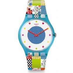 Swatch Women's Watch New Gent Quilted Time SUOS108