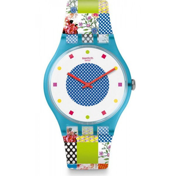 Buy Swatch Women's Watch New Gent Quilted Time SUOS108