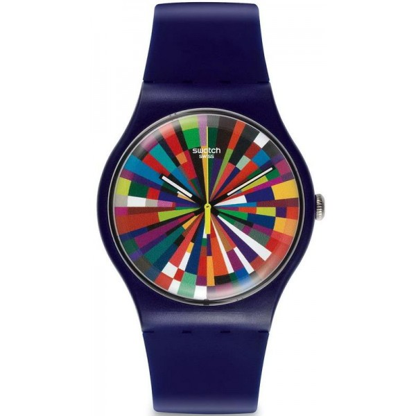 Buy Swatch Unisex Watch New Gent Color Explosion SUOV101