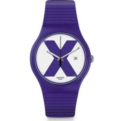 Swatch Unisex Watch New Gent XX-Rated Purple SUOV401
