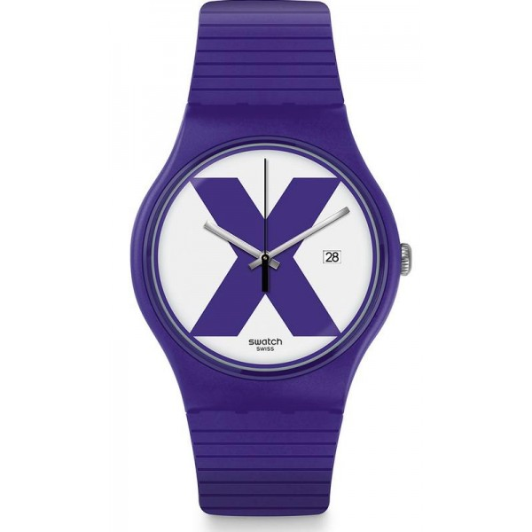 Buy Swatch Unisex Watch New Gent XX-Rated Purple SUOV401