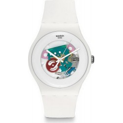 Swatch Unisex Watch New Gent White Lacquered SUOW100