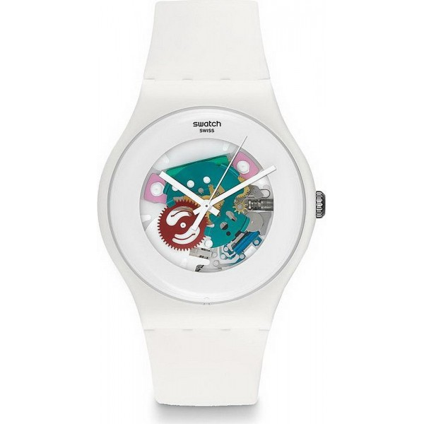 Buy Swatch Unisex Watch New Gent White Lacquered SUOW100