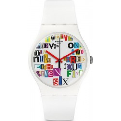 Swatch Unisex Watch New Gent Multi Collage SUOW132
