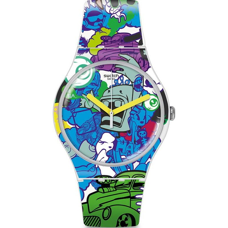 Swatch New Unisex Gent Paint Suow133 Watch Wall jSqpVGzMLU
