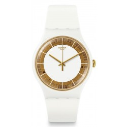 Swatch Women's Watch New Gent Siliwhite SUOW158