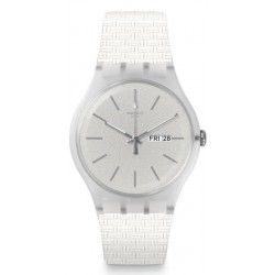 Swatch Unisex Watch New Gent Bricablanc SUOW710