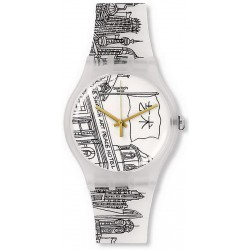 Swatch Unisex Watch New Gent Art Peace Hotel SUOZ197