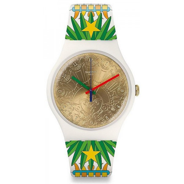 Buy Swatch Mika Unisex Watch New Gent Mumu-Cucurrucucu SUOZ210