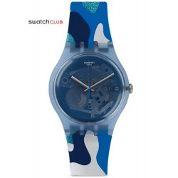 Swatch Club Unisex Watch New Gent Silverscape SUOZ215