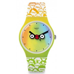 Swatch Club Unisex Watch New Gent What's Yo Face? SUOZ303