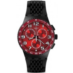 Swatch Men's Watch Chrono Plastic Testa di Toro SUSB101