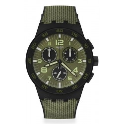 Buy Swatch Mens Watch Chrono Plastic Dark Forest SUSB105