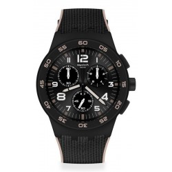 Buy Swatch Mens Watch Chrono Plastic Black Cord SUSB106