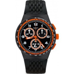 Swatch Men's Watch Chrono Plastic Nerolino SUSB408