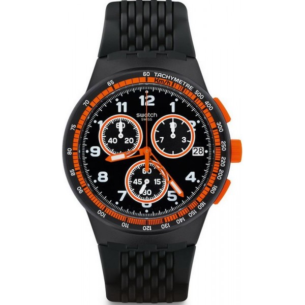 Buy Swatch Men's Watch Chrono Plastic Nerolino SUSB408