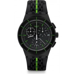 Swatch Men's Watch Chrono Plastic Laser Track SUSB409