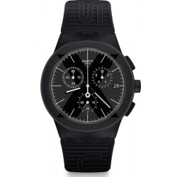 Swatch Men's Watch Chrono Plastic X-District Black SUSB413