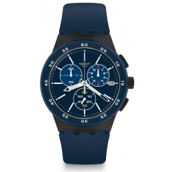 Swatch Men's Watch Chrono Plastic Blue Steward SUSB417