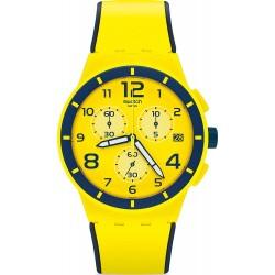 Swatch Unisex Watch Chrono Plastic Solleore SUSJ401